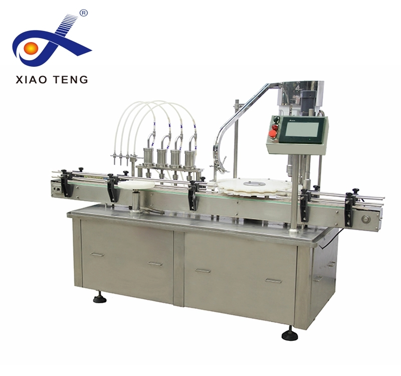 Well known brand 4 nozzles Automatic syrup Filling Capping Machine
