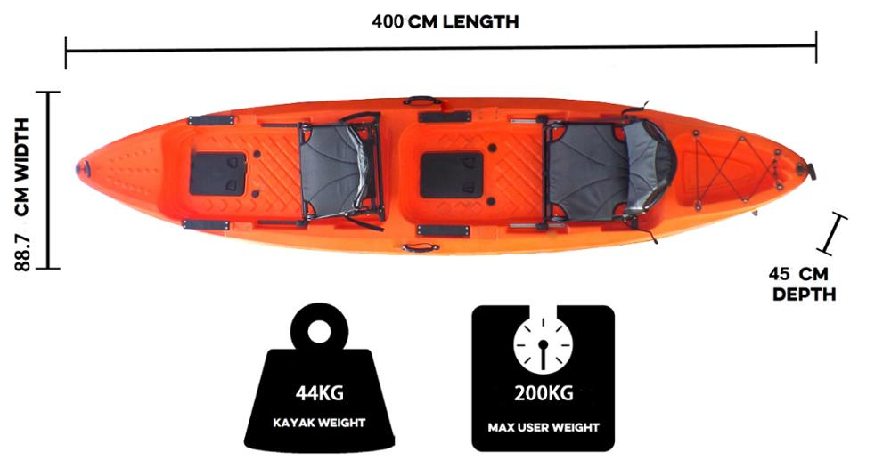 CE Certification 3 Person Kayak Sit On Top For Family