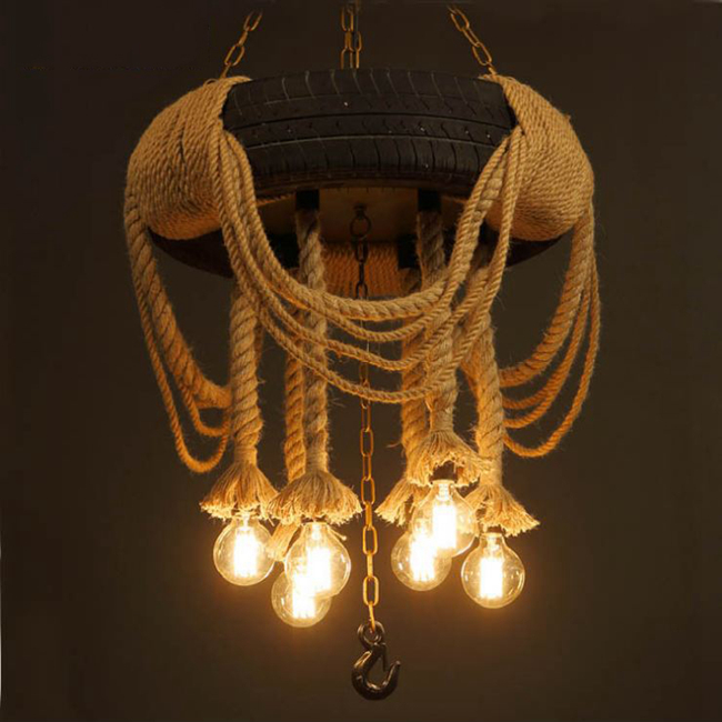 chinese style suede red wooden pendant lamp