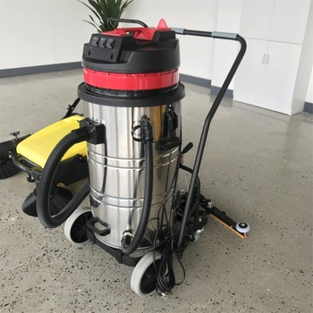 220V 1 phase Motor 3KW Dust collector 80L Rubber wet and dry water vacuum cleaner