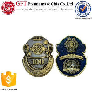 Custom made design COIN NAVY DIVE SCHOOL ANNIVERSARY COINS PRICED INDIVIDUALLY.