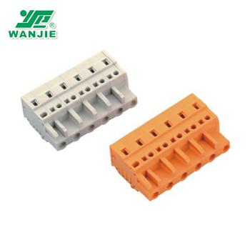 7 62mm 2-24 Wago Female Mcs Screwless Terminal Block Connectors - Buy Mcs  Spring Terminal Block,Wago Spring Terminal Block Connector,Wago Female