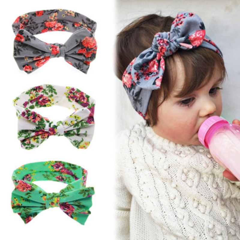 Baby Floral Printed Top Knot <strong>Headband</strong> for Girl Hair Flower Baby Turban <strong>Headband</strong> Girl Cotton Headwrap Accessories