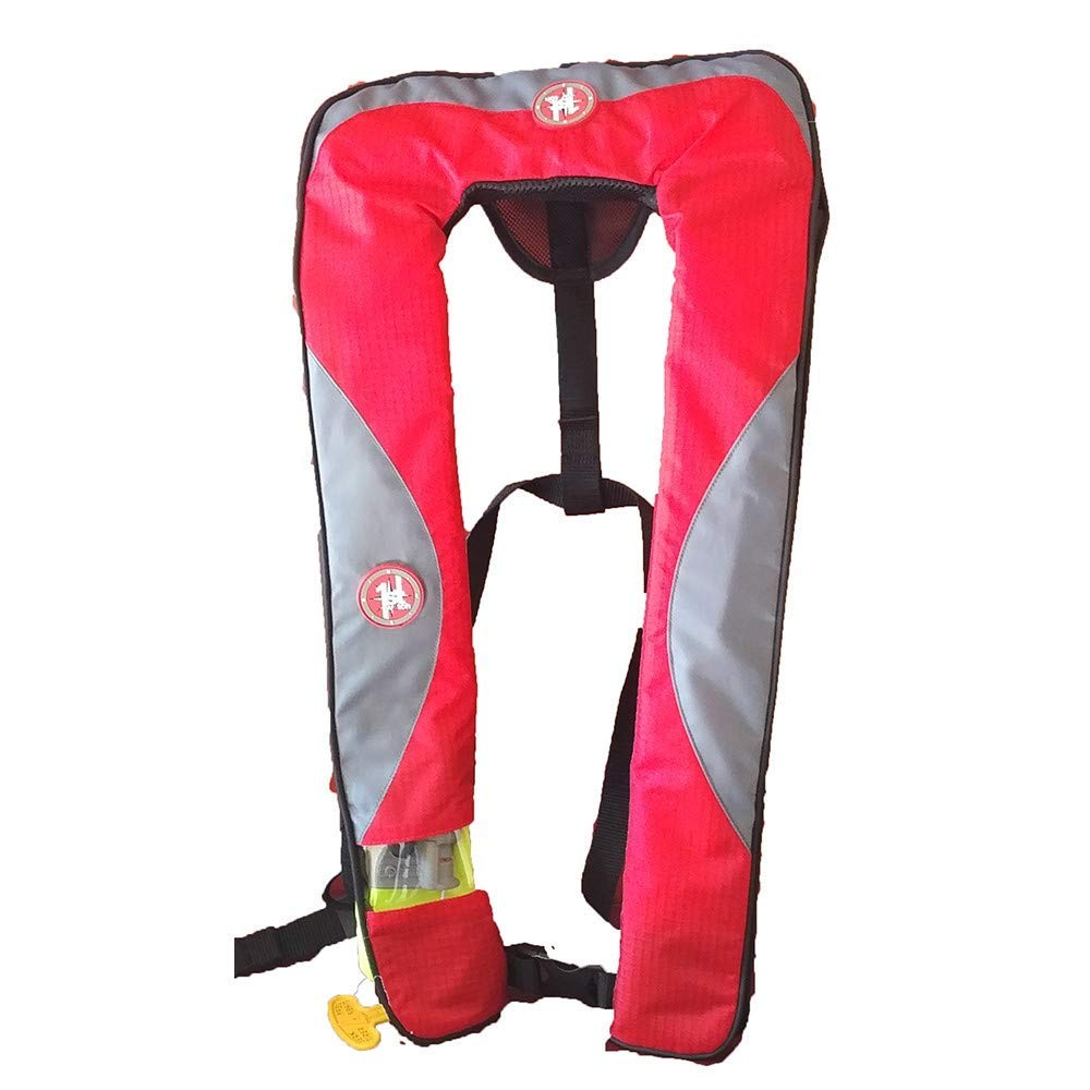 Get Quotations First Watch 24 Gram Inflatable Pfd Manual Red Grey