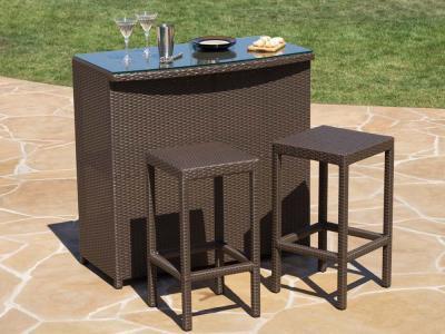 Rattan tavolo alto con sgabelli per mobili da giardino buy