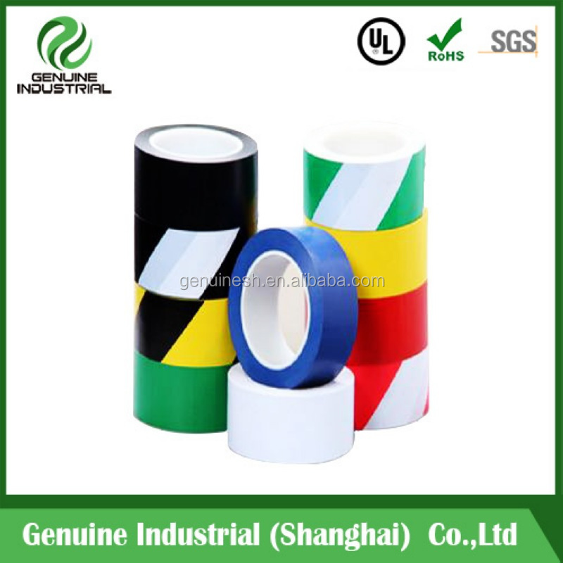 High Quality PVC Pipe Wrapping Tape / pvc floor line marking tape for caution 50mm x 33m