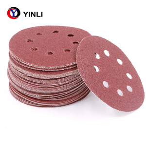 Raw Material 5 Inch Grit 40 Aluminium Oxide Sanding Disc