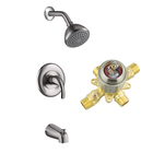 sanitary ware antique single handle brass three-piece wall mounted conceal upc tub brass faucet parts shower set