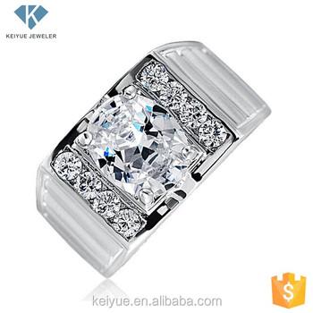 d3cbb1380a33 Venta al por mayor Turquía diseño cz grande semi-preciosas cz piedra mens  anillos de