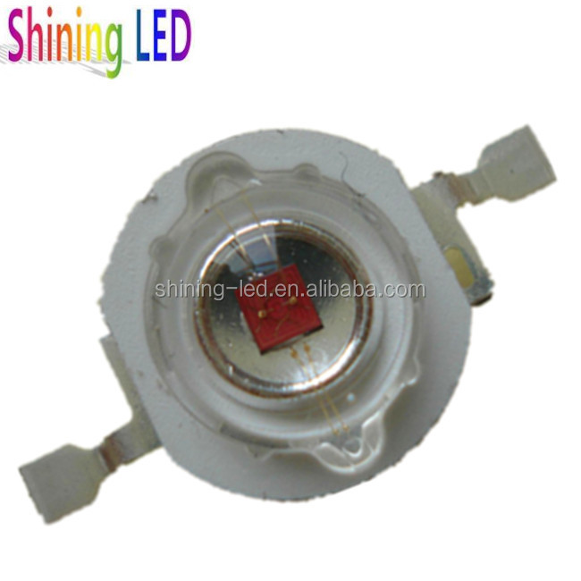 50pcs 3W Red LED high power led lamp  610-625nm DC2.2-2.6V