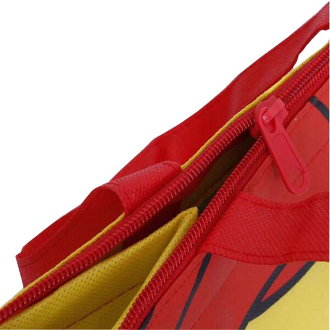 Keep temperature outdoor picnic fashion non woven cooler zipper bag with handle