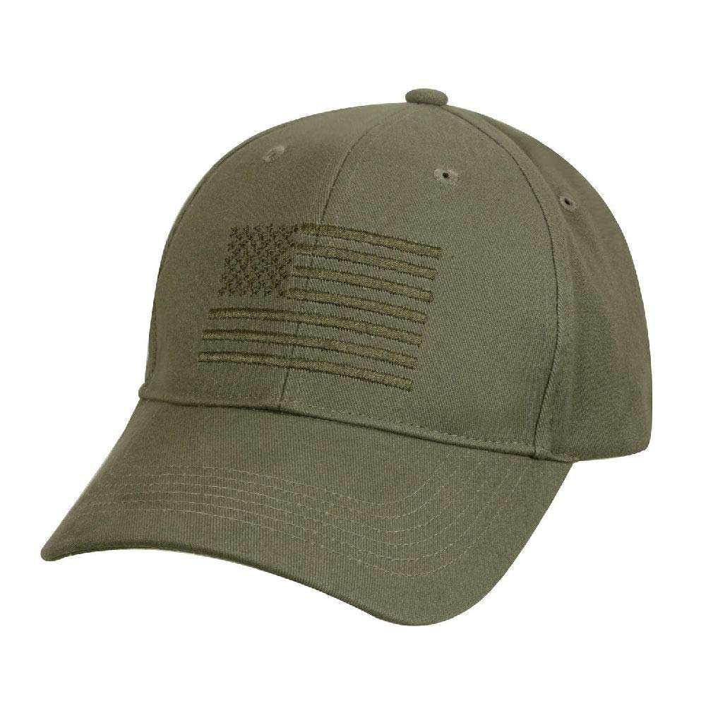 60a0ecf1473 Get Quotations · BlackC Sport Low Profile Baseball Cap Olive Drab American  Flag Embroidered US Flag Hat