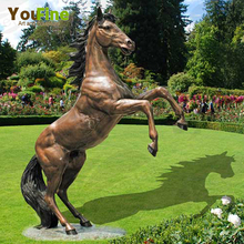 Outdoor Metal Large Bronze Jumping Rearing Horse Sculpture