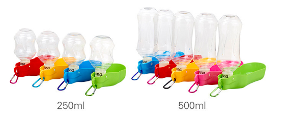 High Quality Travel Use Drop Shipping Outdoor Bottle Pet 250ml 500ml for Puppy Dog