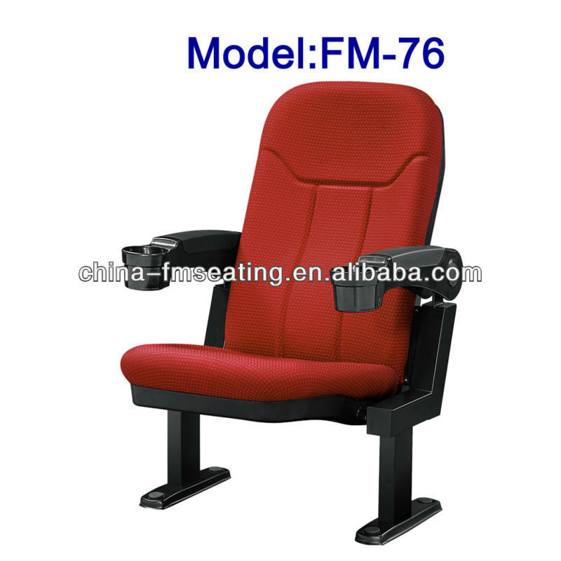 FM-76 Plastic folding China cinema chair with amrest