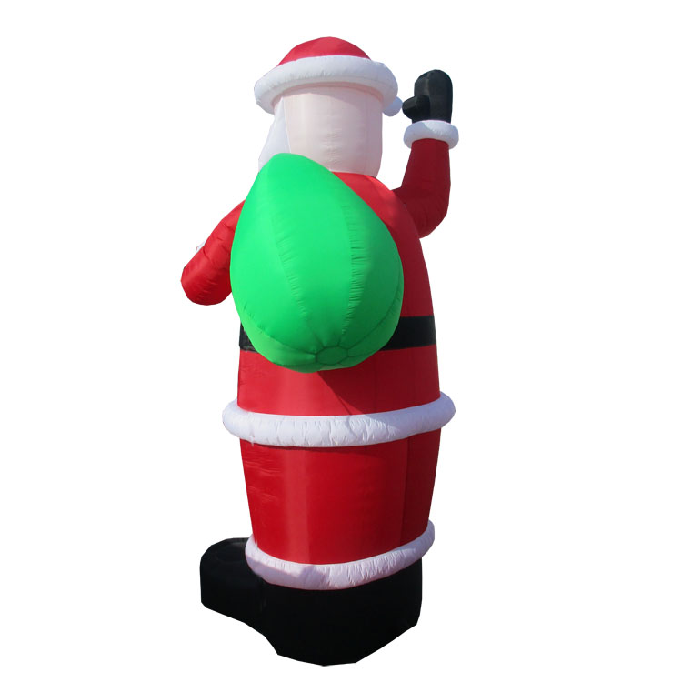 Top Quality Large Inflatable Santa Claus Giving Gifts Made In China