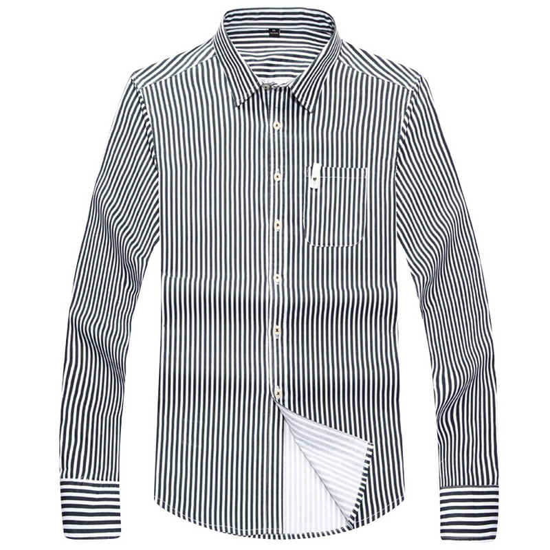 2f4e26a3392 Get Quotations · Brand New Men Striped Shirts Blue   Red Turn Down Collar  2015 Autumn Man Long Shirts
