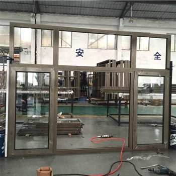 Factory Price Approved Australia aluminum frame window with fixed top hung and middle window