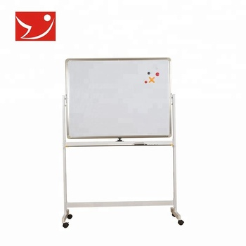 Locking casters mobile magnetic dry erase white board stand
