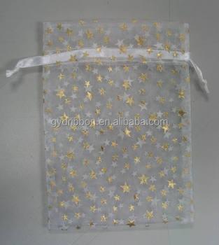 Large Sheer Mesh Drawstring Gift Bags For Candy Snacks Nuts Ng