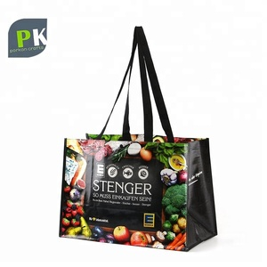 15bde4c10 Fashion Design Full Color Printing Glossy Laminated PP Woven Shopping Bag  with Webbing Handle