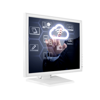 "Customized white black vesa mount monitor 17"" TFT rs232 usb touch screen monitor with DVI VGA  HD Input"