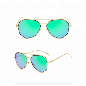 metal frame sunglasses with uv 400 polarized sunglasses mirror stock