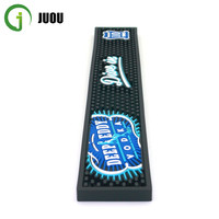High Quality Promotional Restaurant Custom Logo Soft PVC Rubber Bar Mat for Bar using