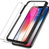 Easy quick install 2.5d perfect fit plastic installer including crystal clear tempered glass screen protector for iphone xr xs