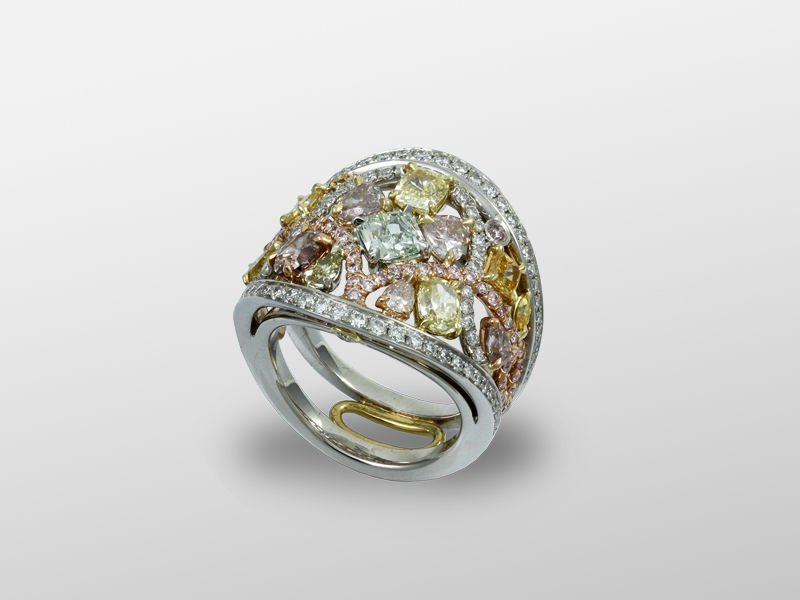 c7622f64164f8 Multi-color Diamond Ring - Buy Diamond Ring With Multi-shape Diamonds  Product on Alibaba.com