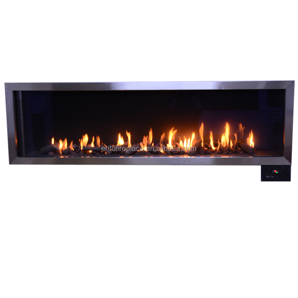 Indoor installation use LPG or NG fuel gas Fireplace with remote control OEM acceptable