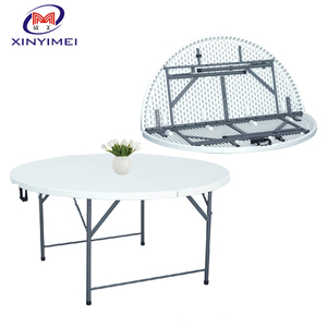 Good Quality Outdoor Catering Plastic Folding Round 6ft Banquet table