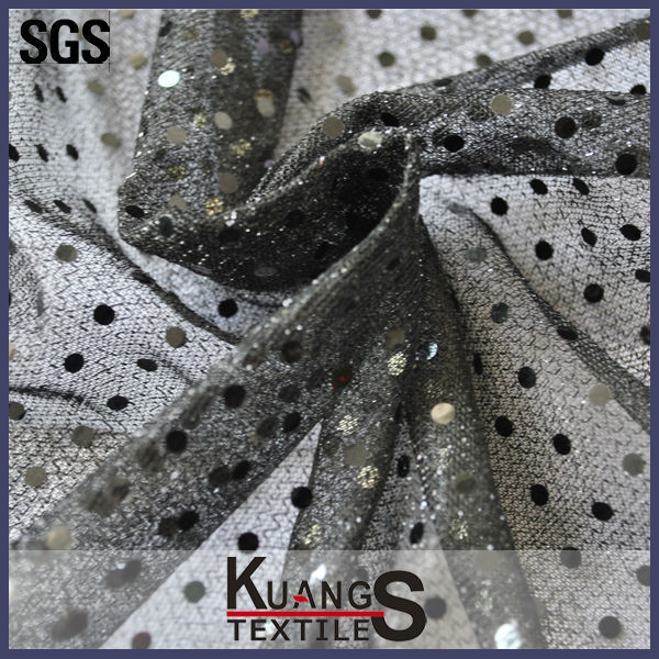 wholesale black sequin fabric