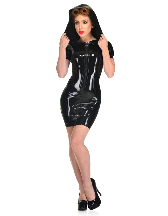Sexy clothes womens pvc fetish wet look dress