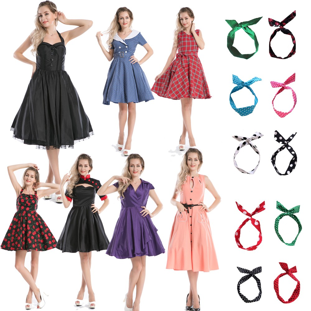Walson Vintage 1950\'s Rockabilly Mature Ladies Swing Evening Formal ...