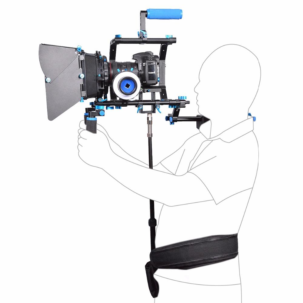 YELANGU Waist Support Bar and Shoulder Bracket Absorber Air Spring Strut for Video Camera,DSLR Camera