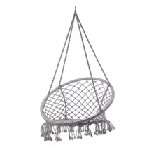 Kids fabric net swing seat rope round chair hammock