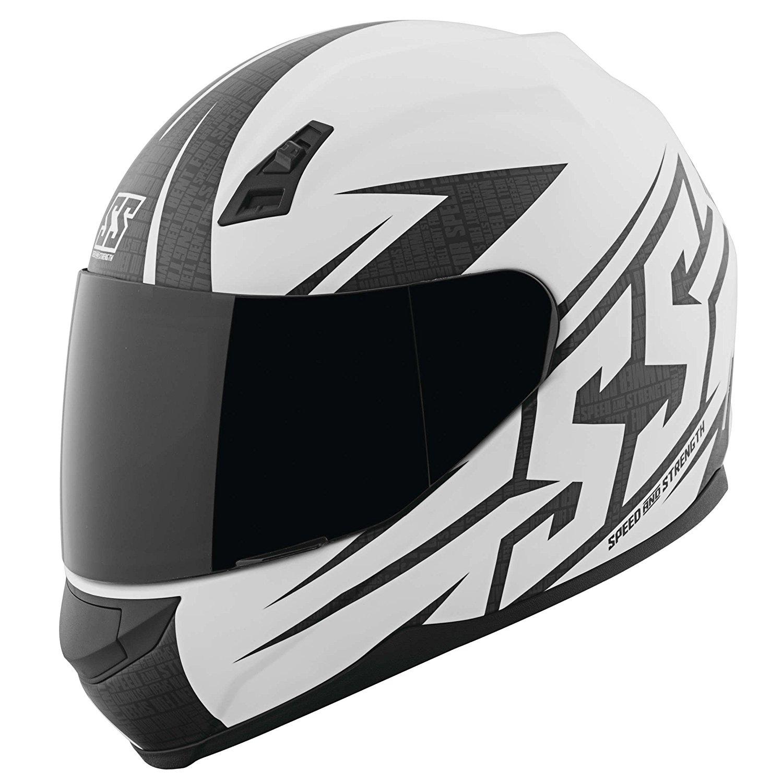Speed & Strength SS700 Hammer Down Helmet, Distinct Name: Matte White, Gender: Mens/Unisex, Helmet Category: Street, Helmet Type: Full-face Helmets, Primary Color: White, Size: Sm, 879172