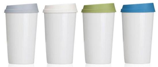 Ikea White Ceramic Coffee Cup 6 Oz