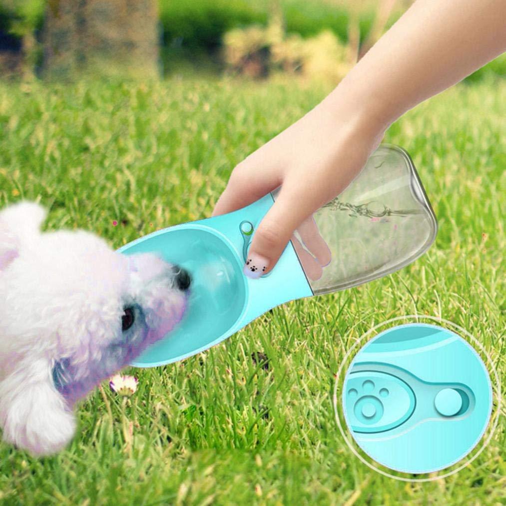 Iusun Portable Pet Water Dispenser Bottle, Pet Dog Drinking Fountain Water Drinking Bottle Outdoor Travel