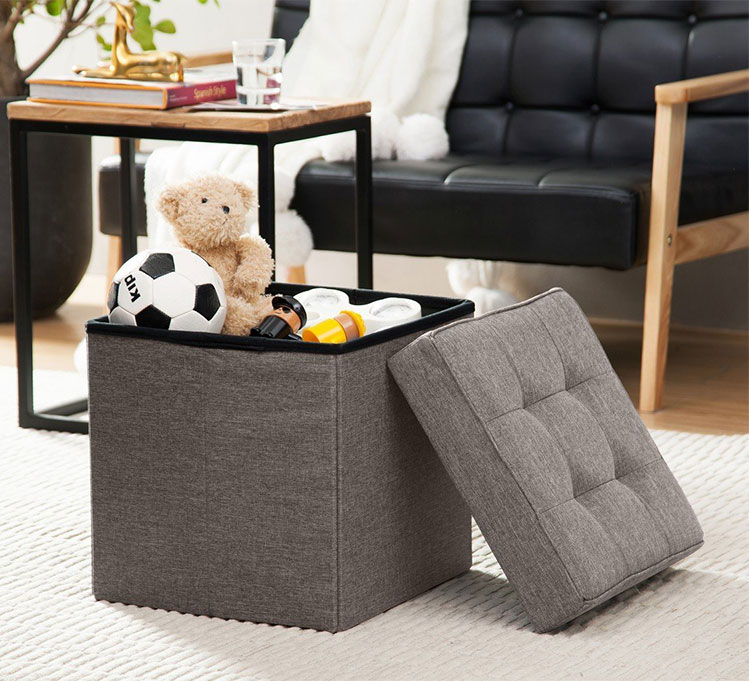 living room furniture foldable Rubik's cube  ottoman stool