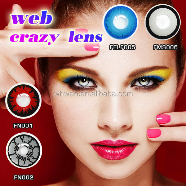 2017 hot selling mix color crazy contact lens safety doll eyes zombie contacts