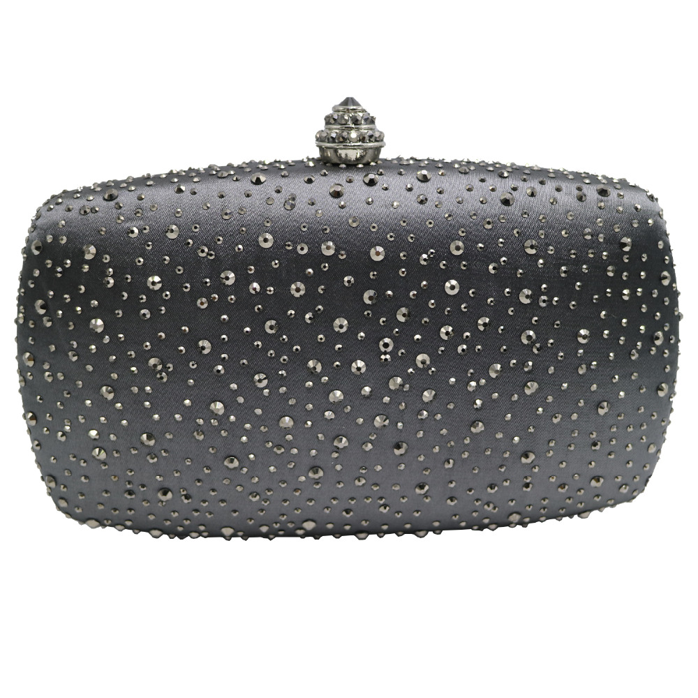 Oval Shape Rhinestones Crystal Clutch Evening Bags For Womens Party Tail Prom