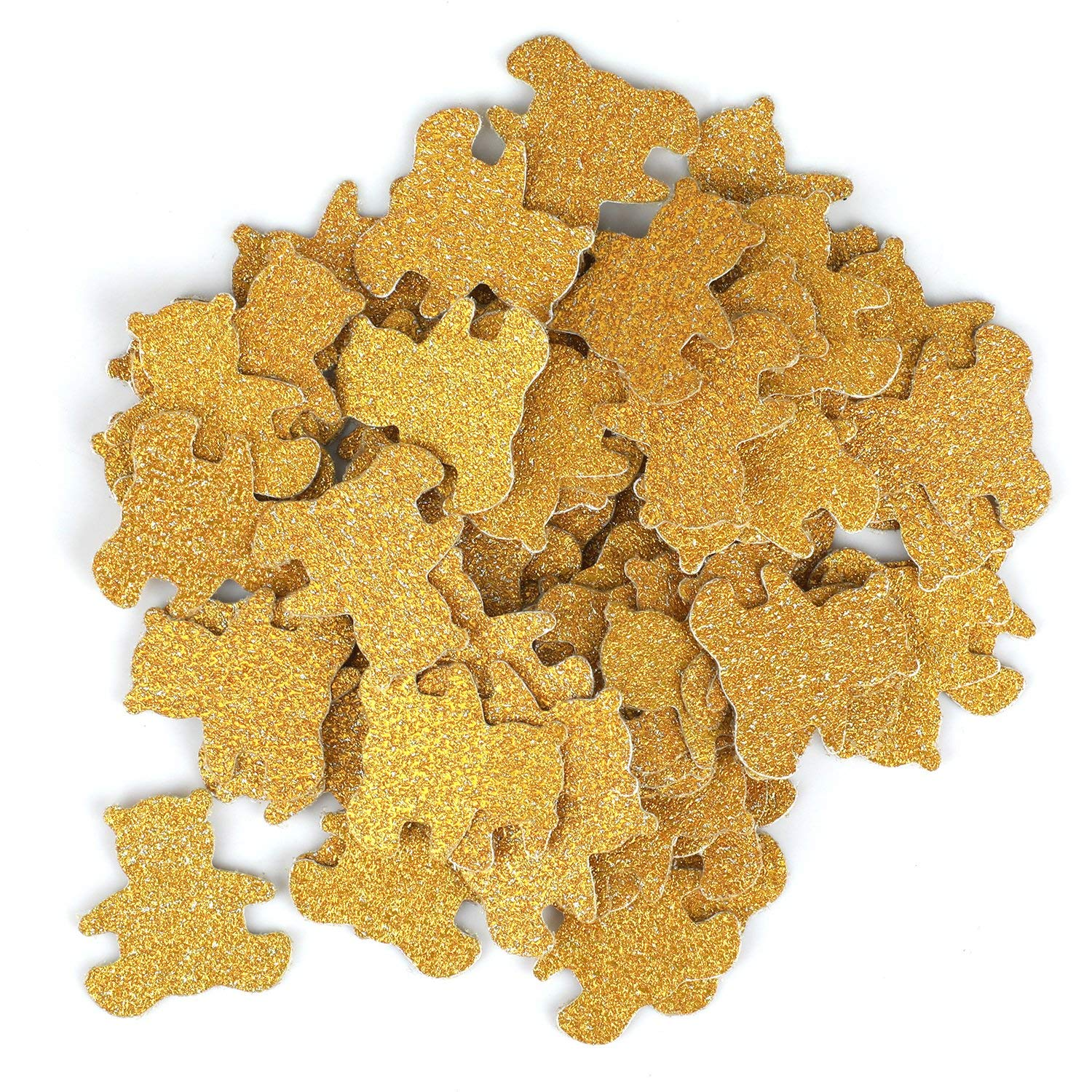 Double- Side Glitter Gold Bear Confetti Wedding Bithday Parties Confetti 200pcs Baby Shower Decorations Table Scatters Setting