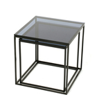 Glass material metal coffee table for living room