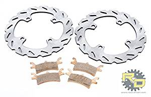 2011-2014 Polaris Ranger 900 Diesel Rear RipTide Rotors & Severe Duty Brake Pads