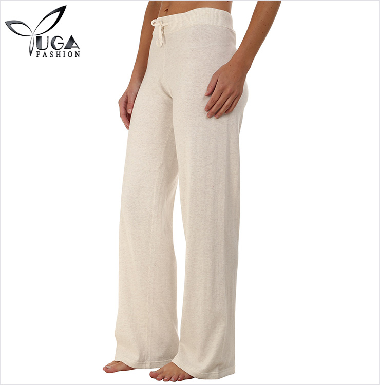 White Women Sweatpants Wholesale Drawstring Long Slacks
