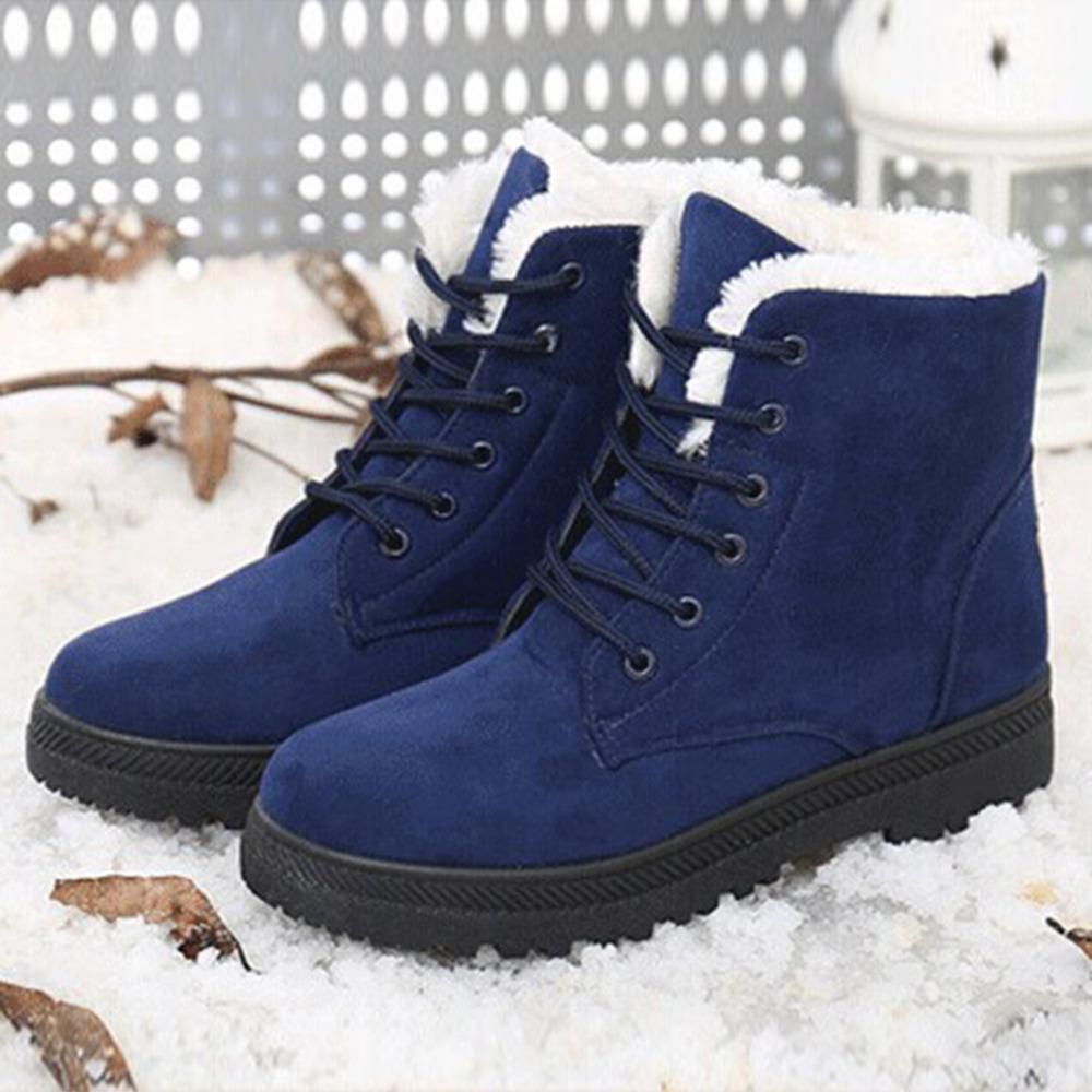 Snow boots winter ankle boots women shoes plus size shoes
