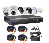 4CH 1080P PoE NVR Kit 4pcs 2.0MP Onvif IP CCTV Camera, 4 Channel Network Home Security Camera System