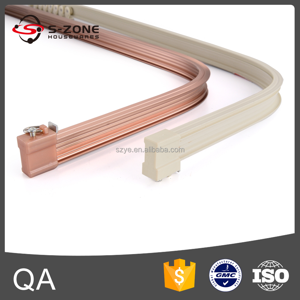 Leicht biegen dekorativen metall schiebe vorhang track für